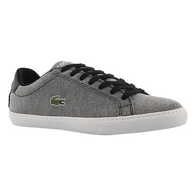 Lacoste Men's GRAD VULC black canvas fashion sneakers