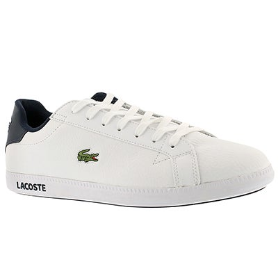 Lacoste Men's GRADUATE LCR white/blue fashion sneakers