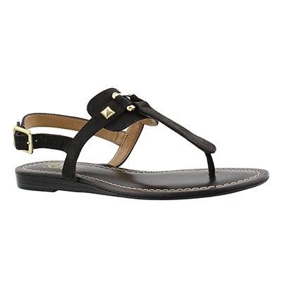 Franco Sarto Women's GRAM black t-strap sandals