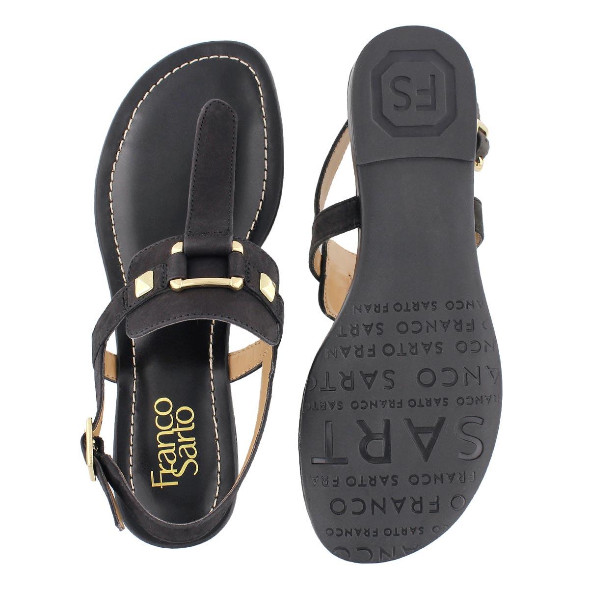 Lds Gram black t-strap sandal
