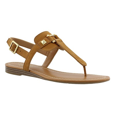 Franco Sarto Women's GRAM biscuit t-strap sandals
