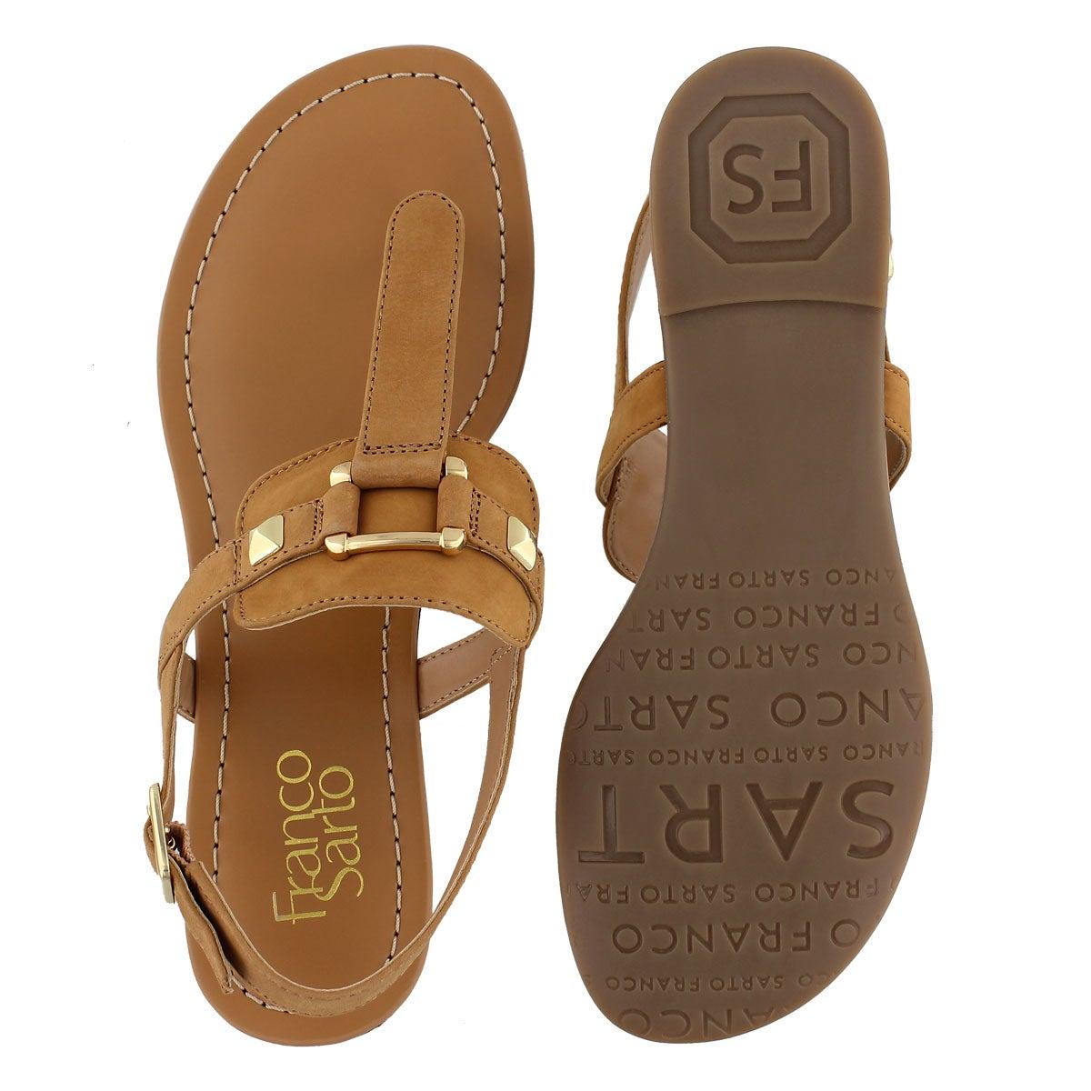 Lds Gram biscuit t-strap sandal