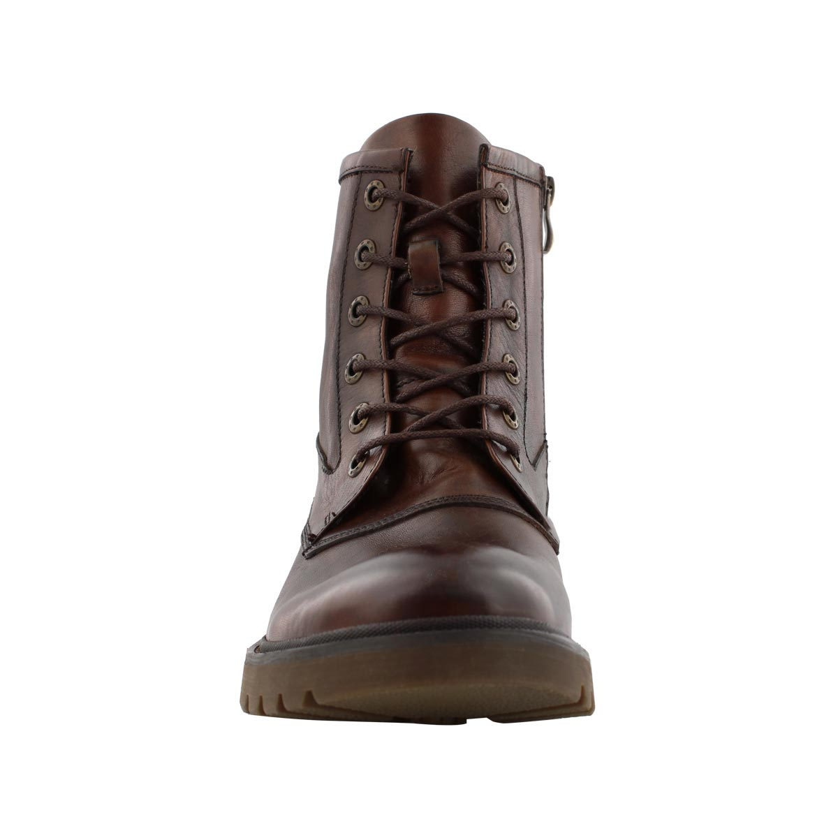 Mns Grand cognac lace up combat boot