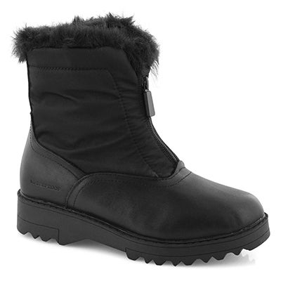 Lds Grandby blk wtpf front zip wntr boot