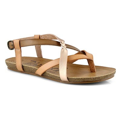 Lds Granola-B rose gold casual sandal