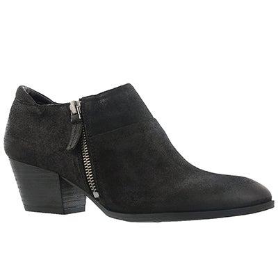 Lds Greco blk zip up casual heel