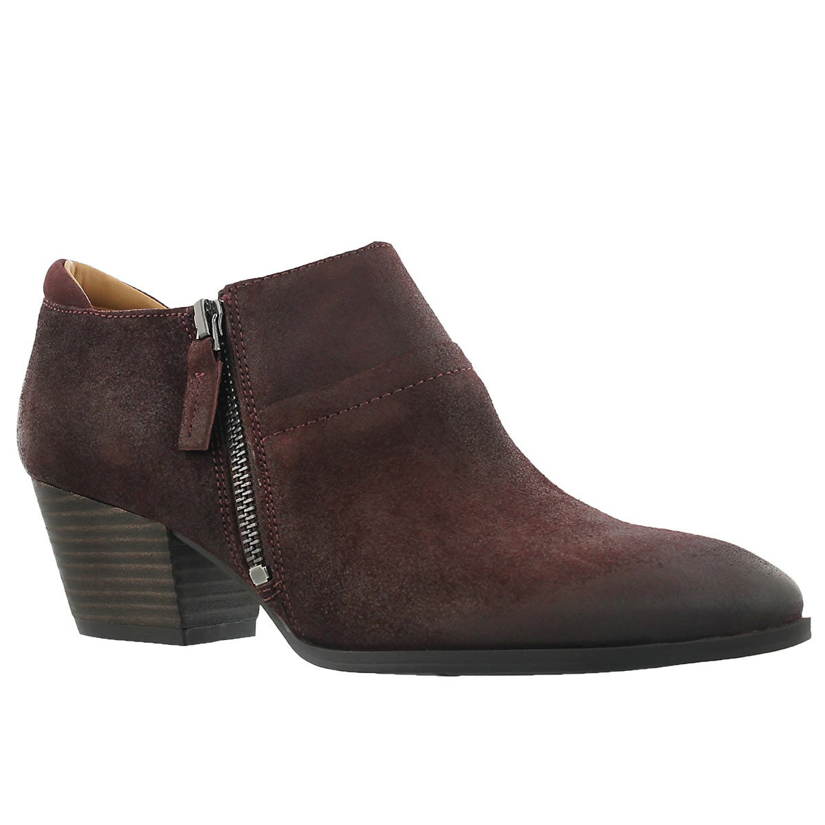 Lds Greco brunello zip up casual heel