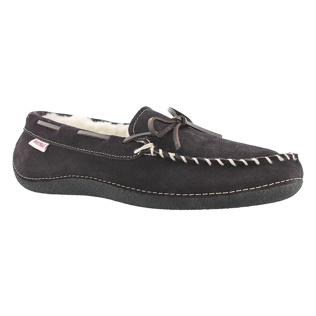 Mns Greg brn fleece lined moc