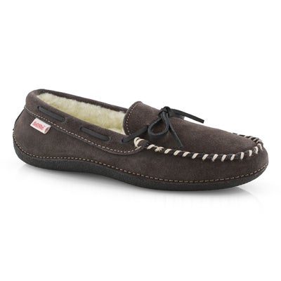 SoftMoc Men's GREG grey fleece lined moccasins