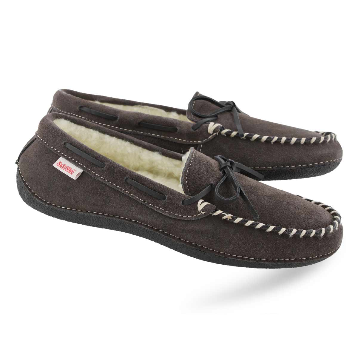 Mns Greg grey fleece lined moc