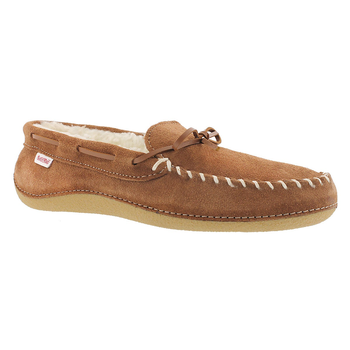 Men's GREG hazlenut fleece lined moccasins