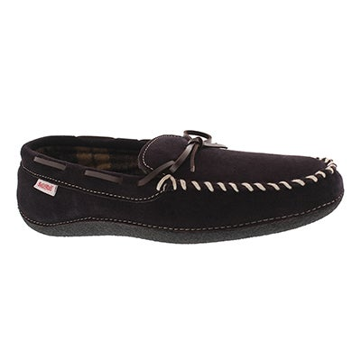 SoftMoc Men's GREG brown plaid lined moccasins