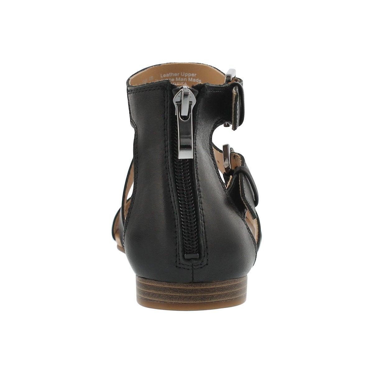 Lds Greta black casual wedge sandal