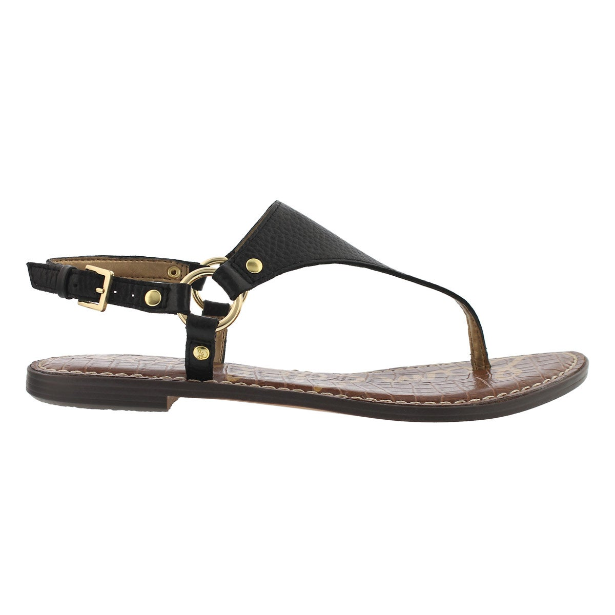 Lds Greta black casual thong sandal