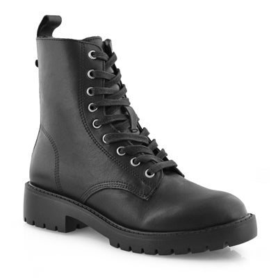 Lds GridM black lace up combat boot