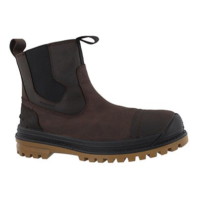 Mns GriffonC brn wp chelsea winter boot