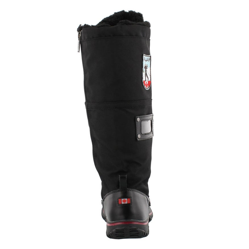 Lds Grip Zip blk nylon wtpf winter boot
