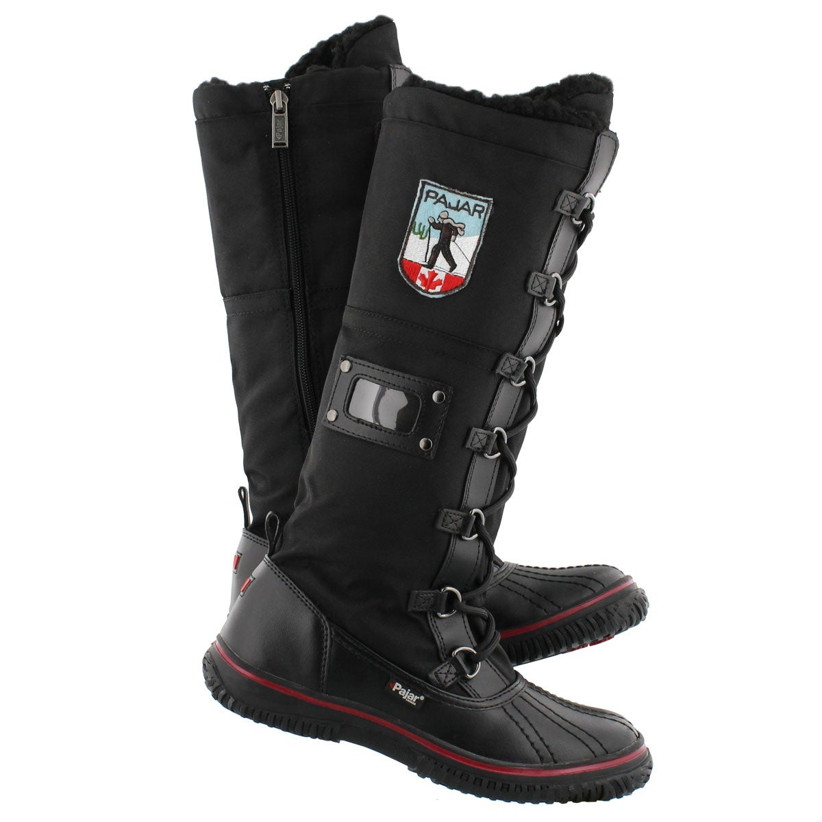 Lds Grip Zip blk nylon wtpf winter boot