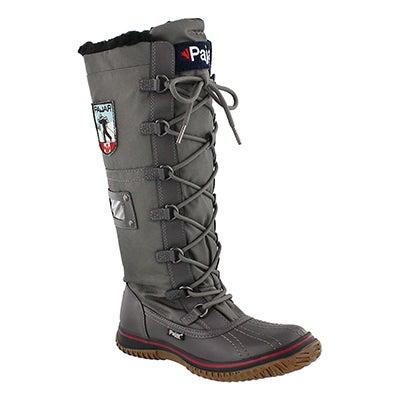 Lds Grip Zip char nylon wtpf winter boot