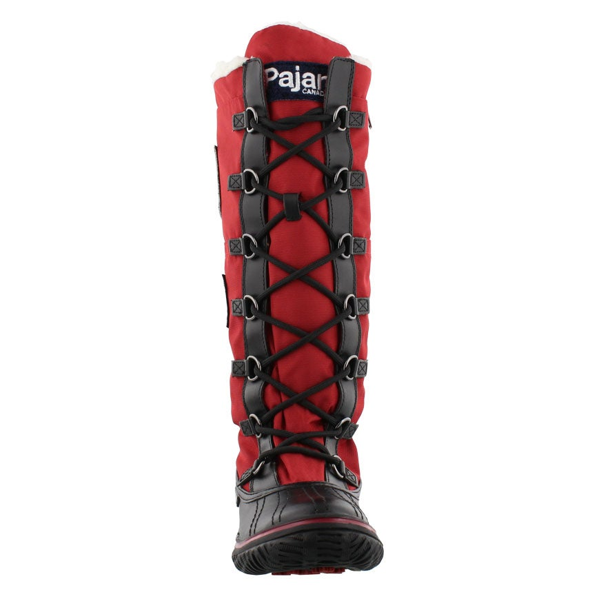 Lds Grip Zip red nylon wtpf winter boot