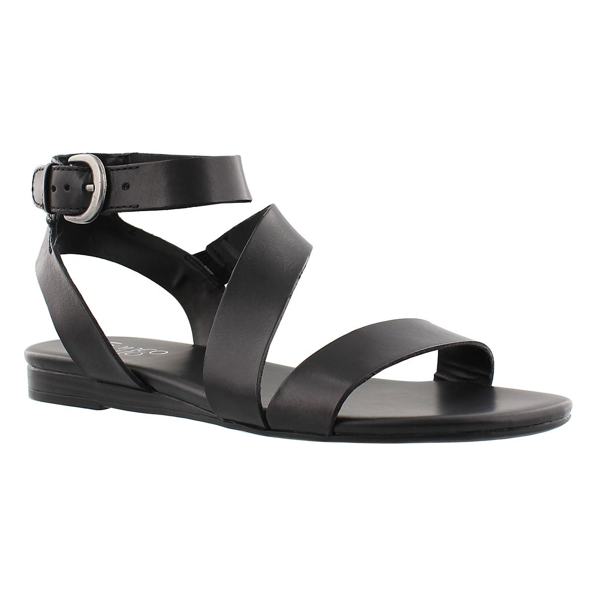 Women's GUSTER black ankle strap casual sandals