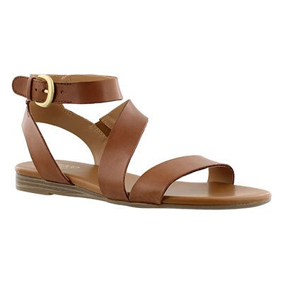 Franco Sarto Women's GUSTER tan ankle strap casual sandals