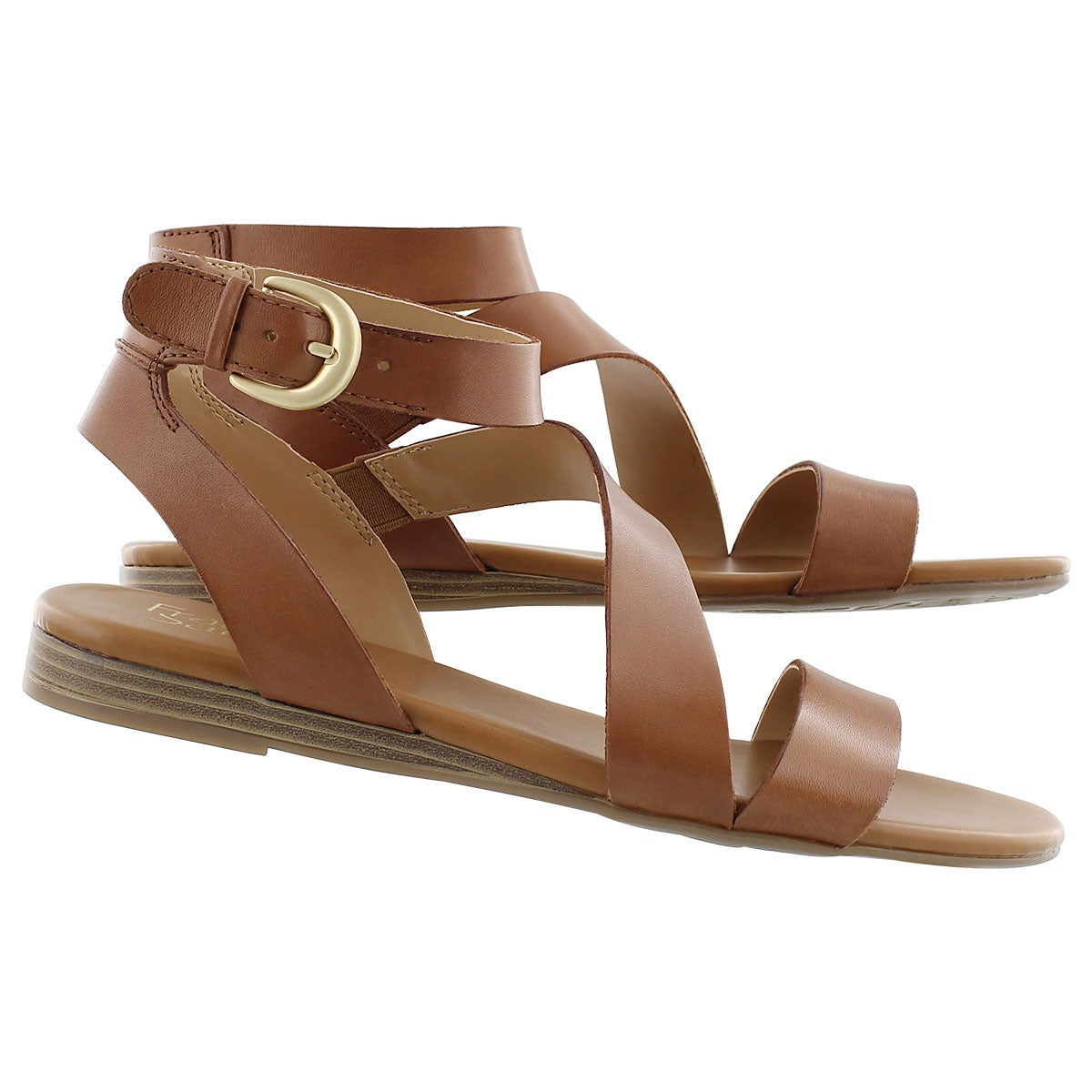 Lds Guster tan ankle strap casual sandal