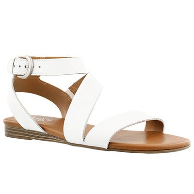 Franco Sarto Women's GUSTER white ankle strap casual sandals