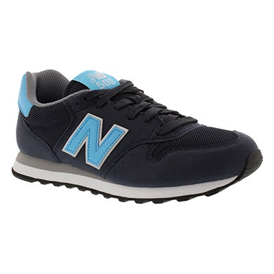 New Balance Women's 500 navy/multi suede lace up sneakers