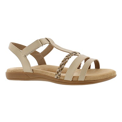 SoftMoc Women's GWEN tan t-strap  memory foam sandals