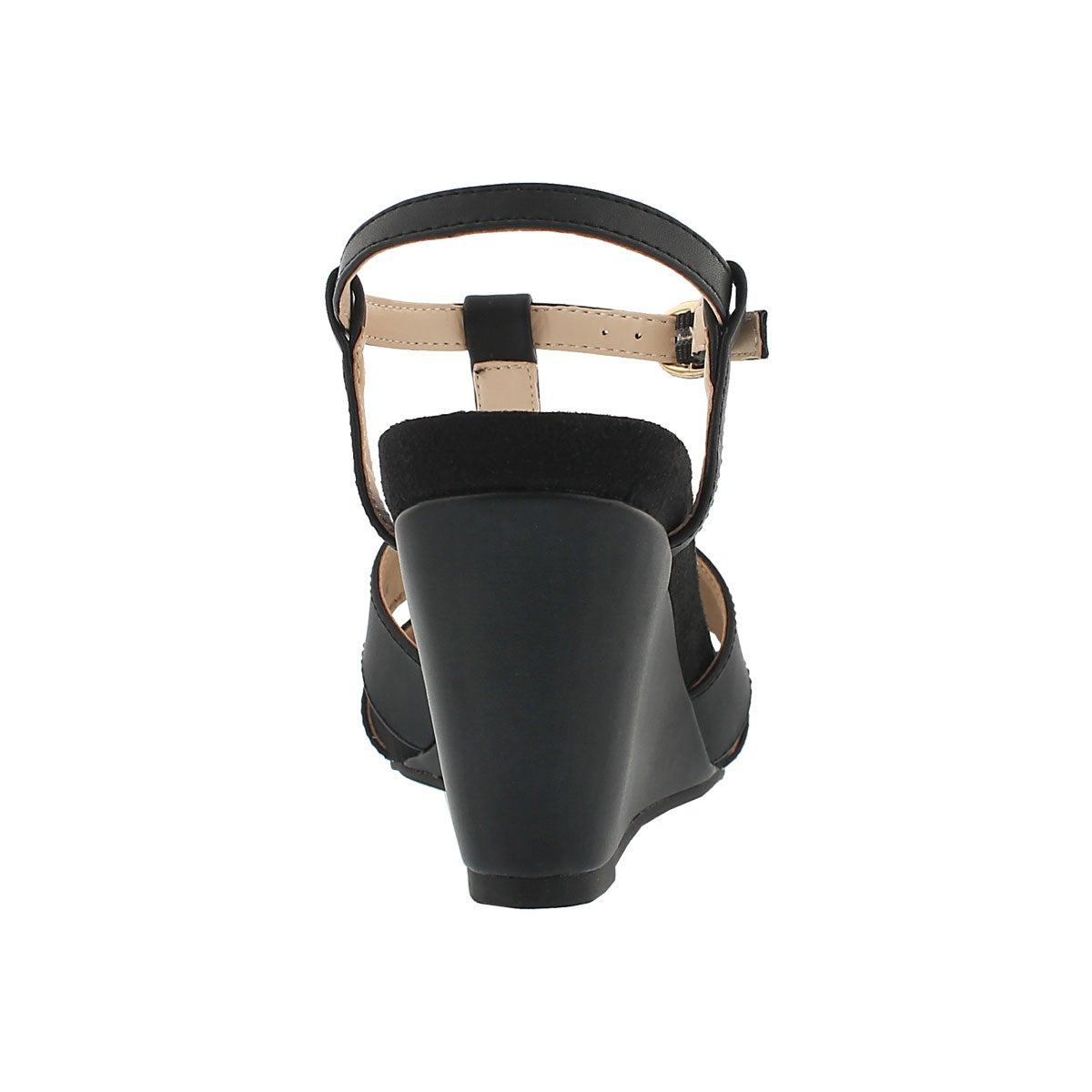 Lds Gypsy black mem foam wedge sandal
