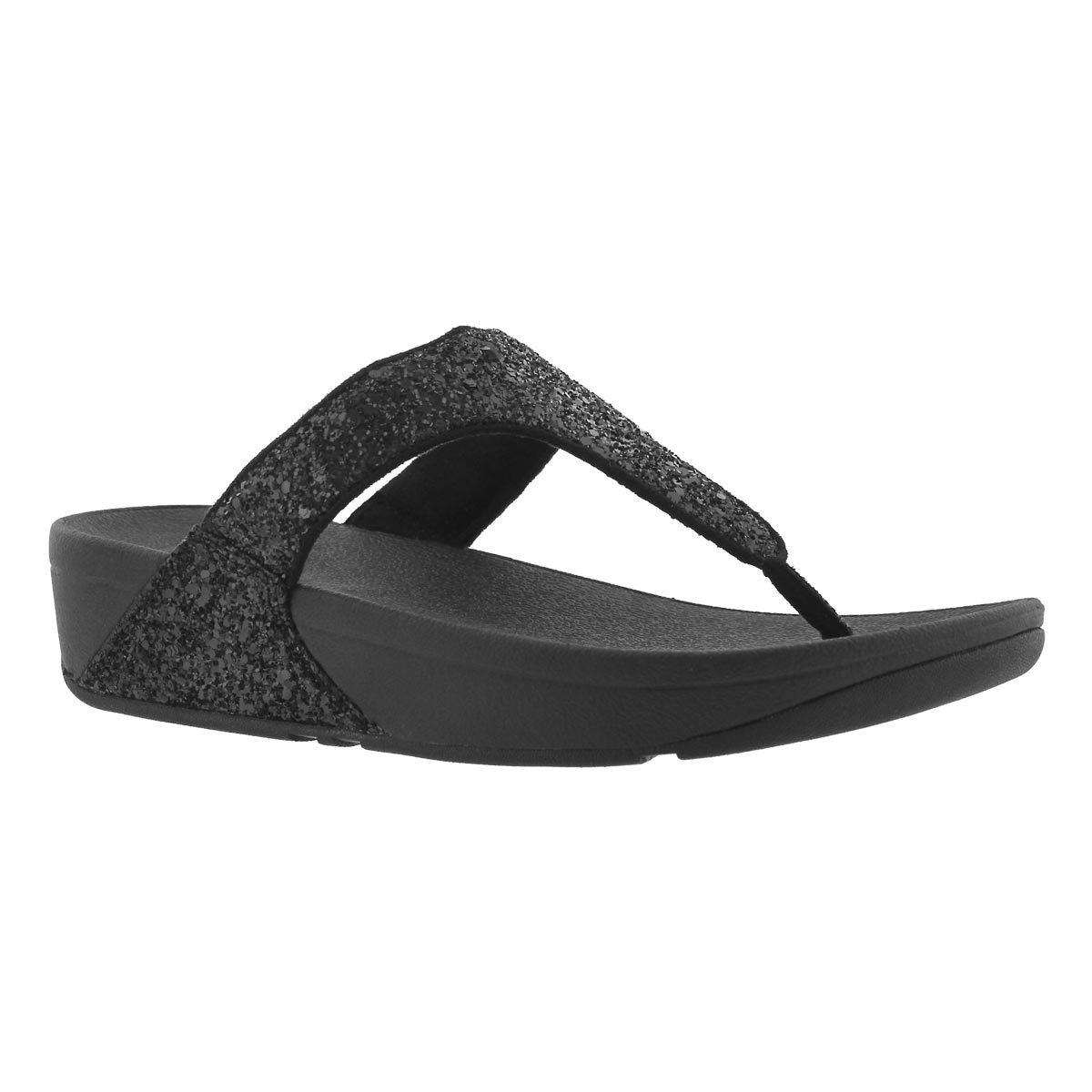 Women's GLITTERBALL TOE-POST blk thong sandals