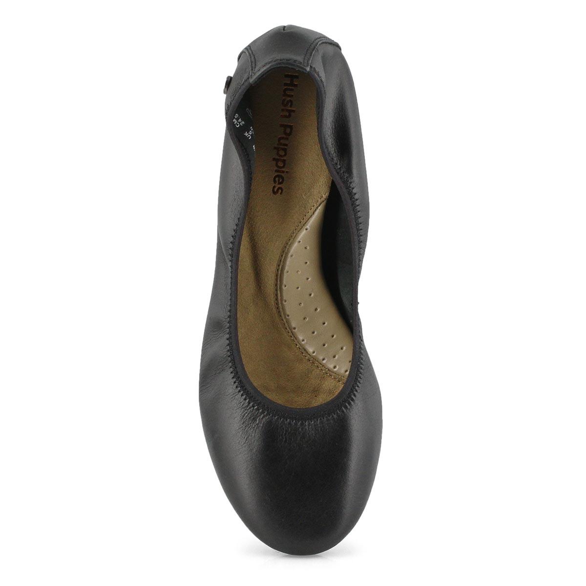 Lds Chaste Ballet black leather flat