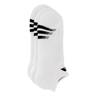 adidas Men's CUSHIONED no show white socks - 3 pack