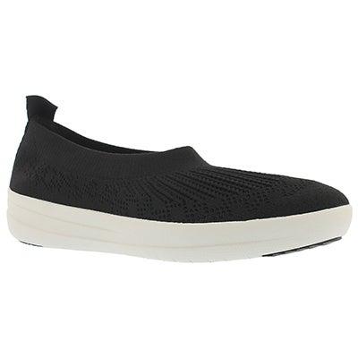 Lds Uberknit Ballerina blk walking shoes
