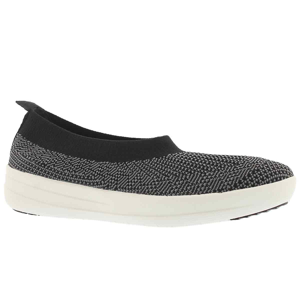 Women's UBERKNIT BALLERINA black walking shoes