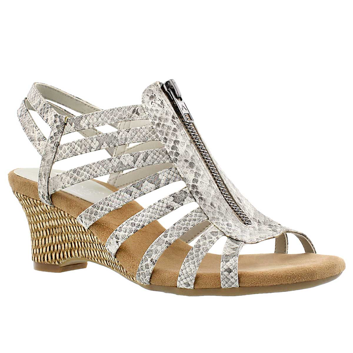 Lds Half Dozen grey lizard wedge sandal