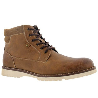 SoftMoc Men's HALLWAY cognac lace up ankle boots