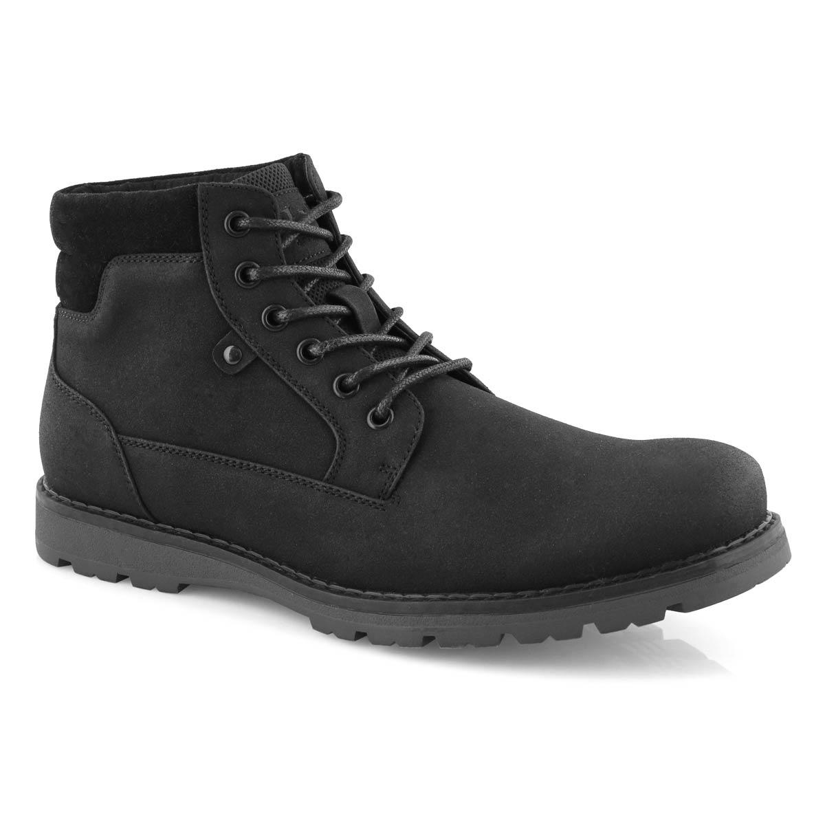 Mns Hallway 2 blk/blk lace up ankle boot