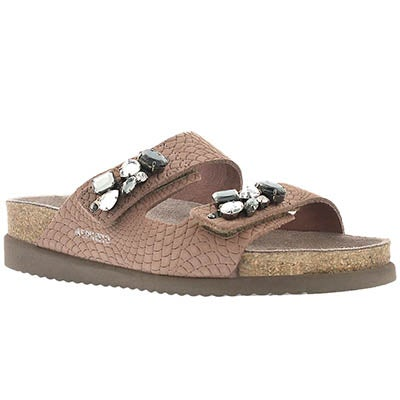 Mephisto Women's HANA pink rio cork footbed sandals