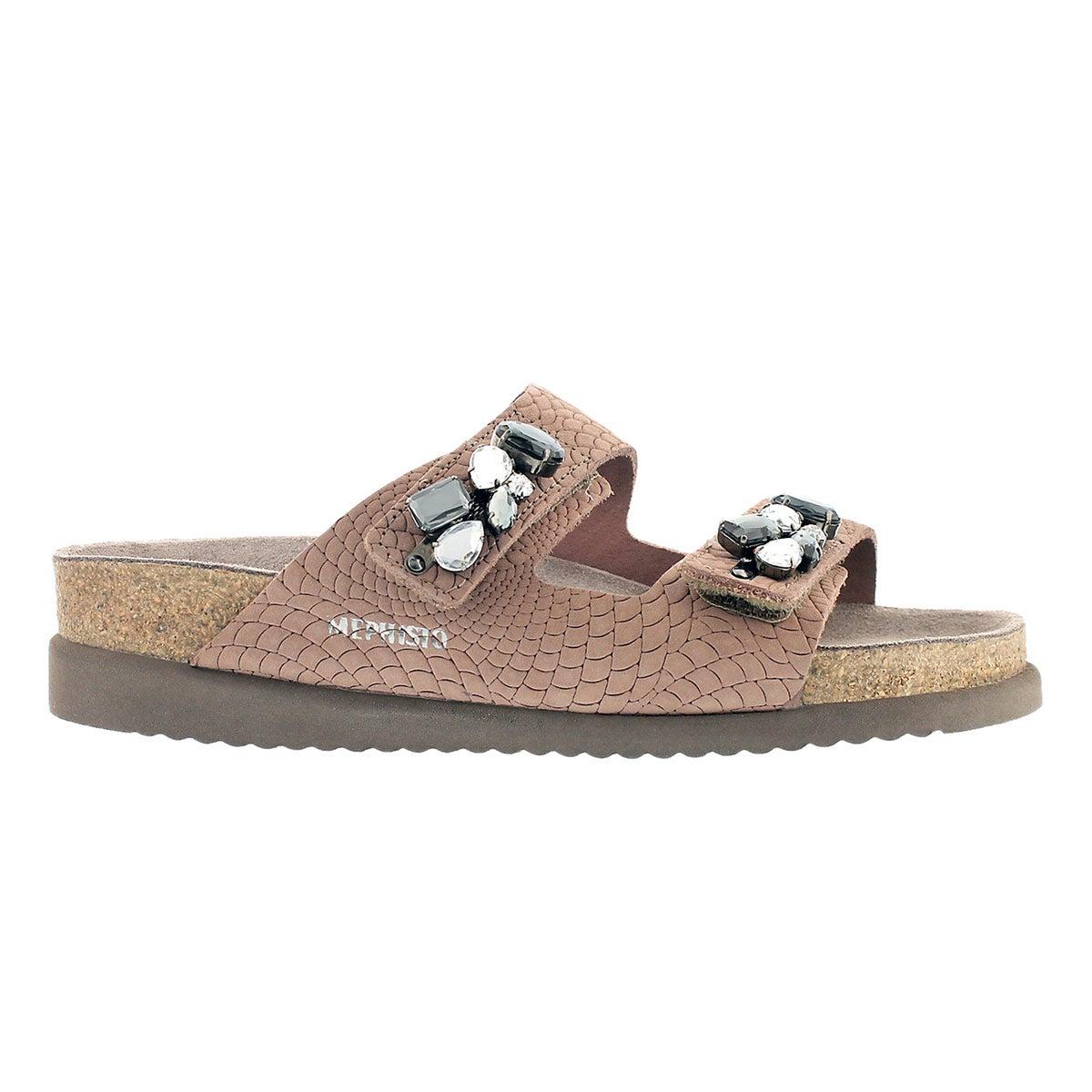 Lds Hana pink rio cork footbed sandal