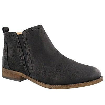 Franco Sarto Women's HANCOCK black slip on ankle boots
