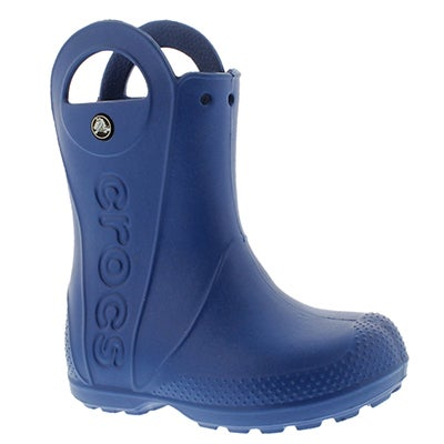 Crocs Boys' HANDLE IT sea blue waterproof rain boots