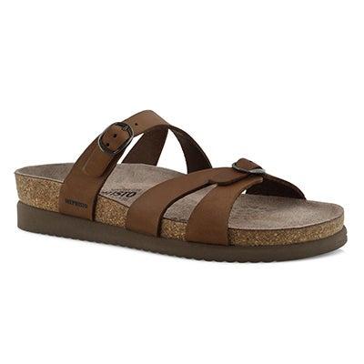 Lds Hannel dk brn cork footbed sandal