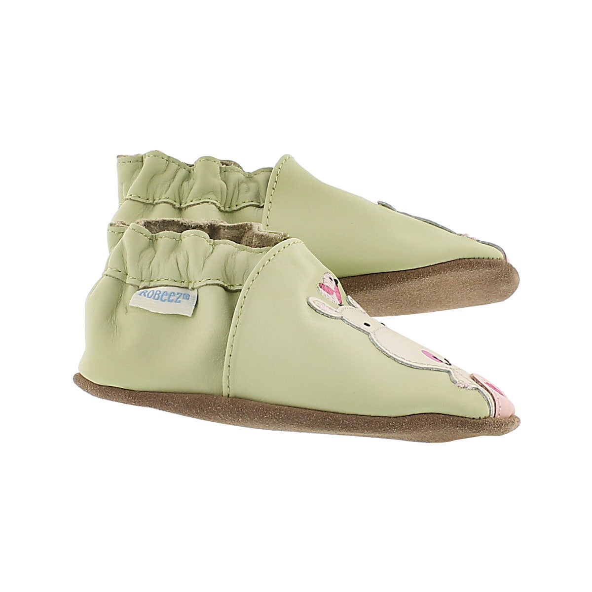 Inf Happy Hippos green soft slipper