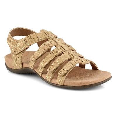 Lds Harissa gold cork casual sandals