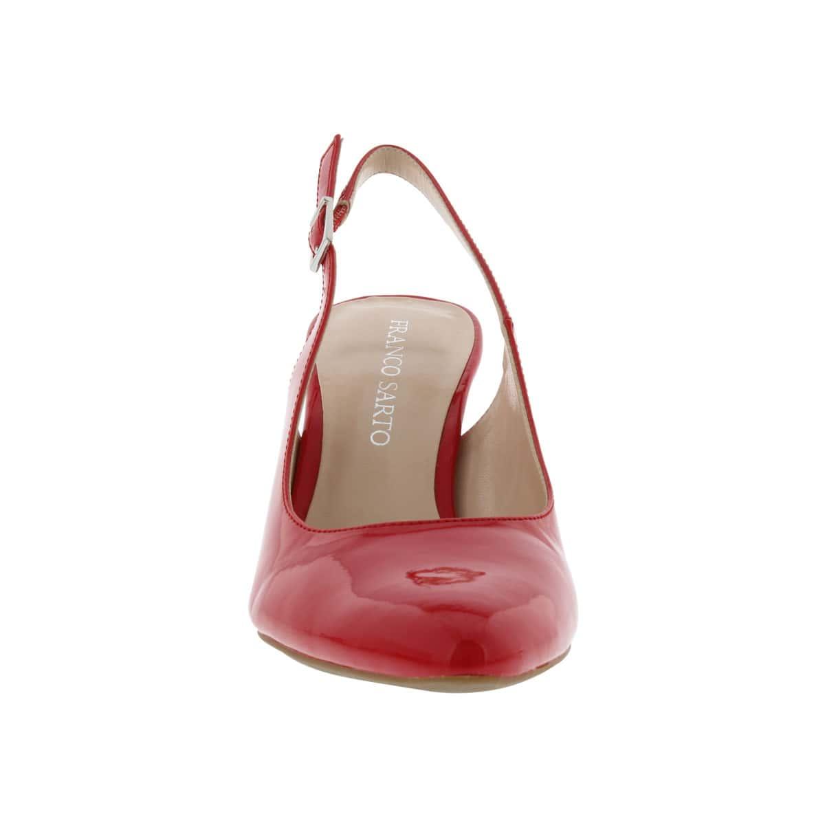 Ladies Harla red patent sling back pump