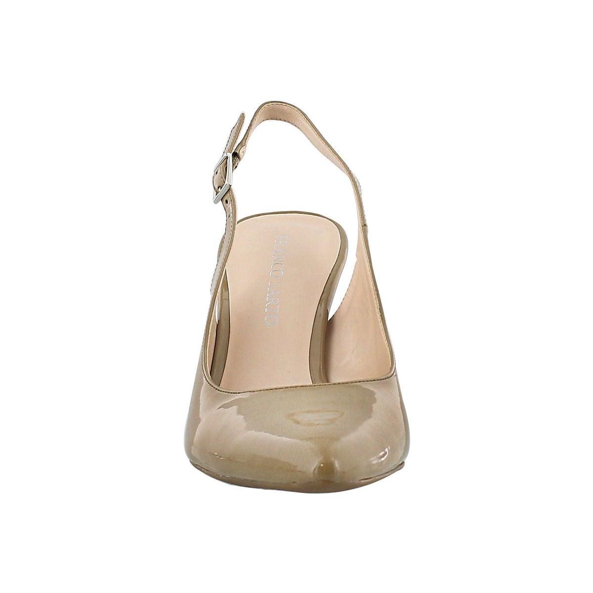 Ladies Harla nat patent sling back pump