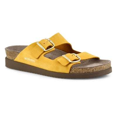 Lds Harmony sandalbuck ochre footbed sld