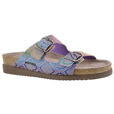 Mephisto Women's HARMONY multi print cork footbed slides